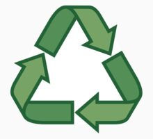 Green recyling symbol sticker by Mhea