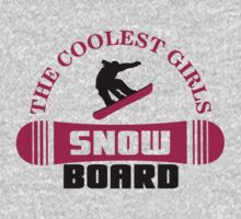 The coolest girls snowboard Baby Tee