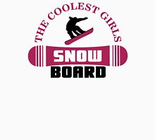 The coolest girls snowboard Womens Fitted T-Shirt