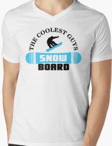 The coolest guys snowboard Mens V-Neck T-Shirt