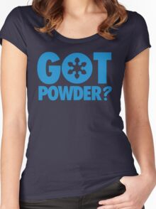 Got Powder? Women's Fitted Scoop T-Shirt
