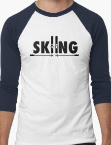 Skiing Men's Baseball ¾ T-Shirt