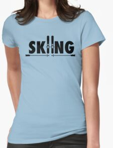 Skiing Womens Fitted T-Shirt