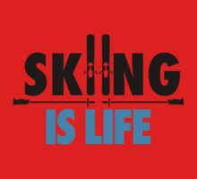 Skiing is life Kids Clothes