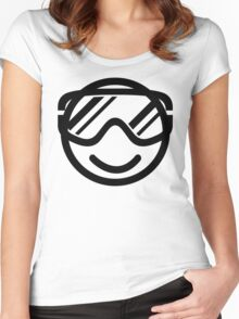 Winter smiley Women's Fitted Scoop T-Shirt