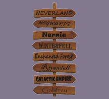 Fictional Places Signpost Kids Clothes