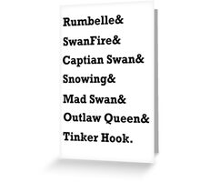 Once Upon a Time Ships Greeting Card