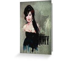 Amy Winehouse Portrait Greeting Card