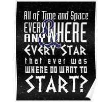 All of time and Space Typography Quote Poster