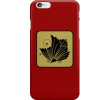 Red Laquer with Gold and Black Kamon Butterfly iPhone Case/Skin