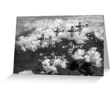 D-Day Mustangs black and white version Greeting Card