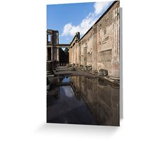 Reflecting on Pompeii Greeting Card