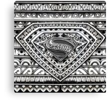 Hope sign Black and white Aztec Pattern Canvas Print