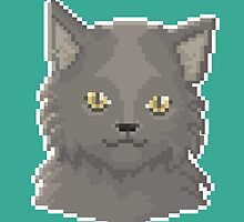 Pixel Cat - Fluffy version by maicakes