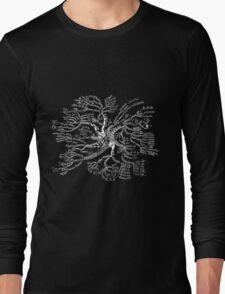 Math tree [dark] Long Sleeve T-Shirt