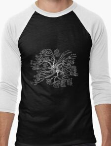 Math tree [dark] Men's Baseball ¾ T-Shirt