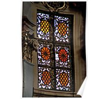 Orange Stained Glass Poster