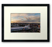 Sheffield town centre Framed Print