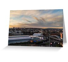 Sheffield town centre Greeting Card