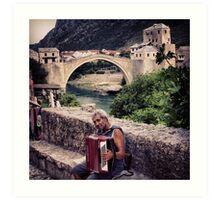 Balkan Blues Art Print