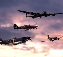 Battle of Britain Memorial Flight by James Biggadike
