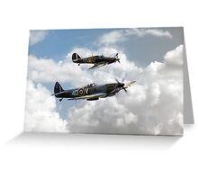 RAF Fighting Pair Greeting Card
