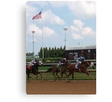Horserace at Churchill Downs Canvas Print