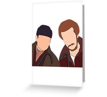 Harry and Marv, Home Alone Faceless Greeting Card