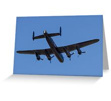 Avro Lancaster B.1 PA474 KC-A Greeting Card