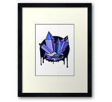 Monsoon Crystals Framed Print