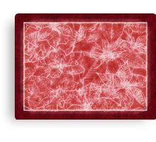 Mixed color Poinsettias 1 Outlined Red Canvas Print