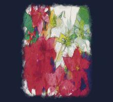 Mixed color Poinsettias 1 Serene Baby Tee