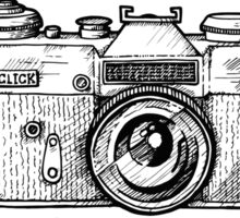 Camera black ink Sticker