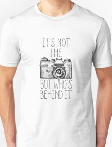 Camera black ink Unisex T-Shirt