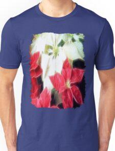 Mixed Color Poinsettias 2 Angelic Unisex T-Shirt