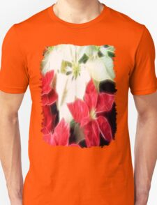 Mixed Color Poinsettias 2 Angelic Unisex T-Shirt