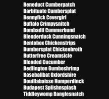 Beneduct Cumberpatch (left-aligned text) by Allison Yu