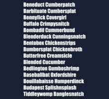 Beneduct Cumberpatch (left-aligned text) One Piece - Long Sleeve