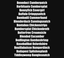 Beneduct Cumberpatch (centred text) Kids Tee