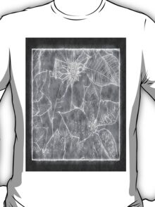 Mixed Color Poinsettias 2 Outlined Gray T-Shirt