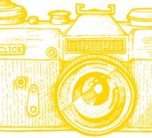Camera yellow ink Sticker