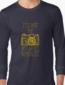 Camera yellow ink Long Sleeve T-Shirt