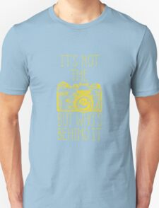 Camera yellow ink Unisex T-Shirt