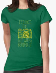 Camera yellow ink Womens Fitted T-Shirt