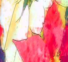 Mixed Color Poinsettias 2 Serene Sticker