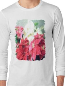 Mixed color Poinsettias 3 Angelic Long Sleeve T-Shirt
