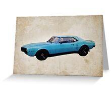 Grabber Blue Firebird Greeting Card