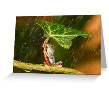 Ohh No... :( Raining Greeting Card