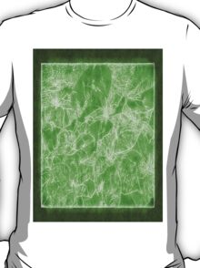 Mixed color Poinsettias 3 Outlined Green T-Shirt