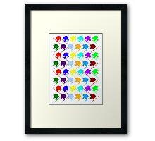 Ski Cross! Framed Print